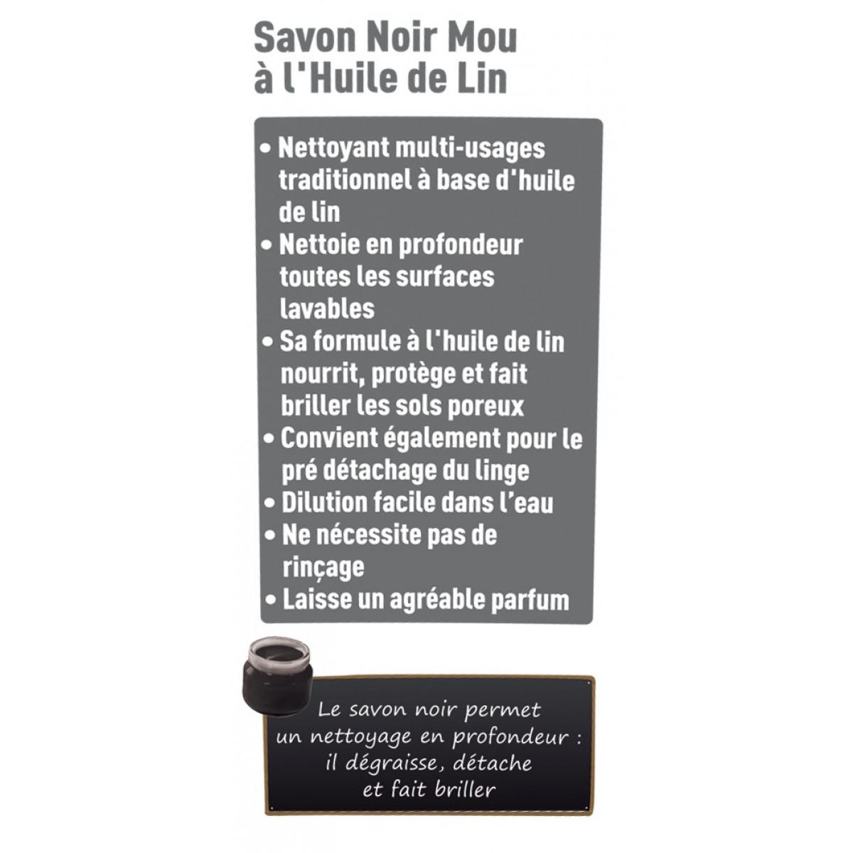 Savon noir à l'huile de lin Spado - Pot 1 kg