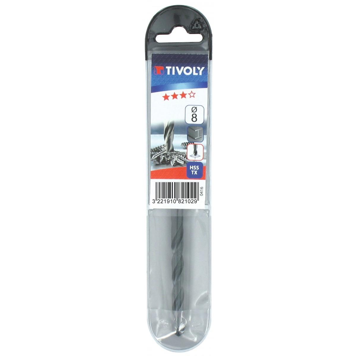 Foret métaux autocentrant qualité TX Tivoly - Diamètre 2 mm - Vendu par 2