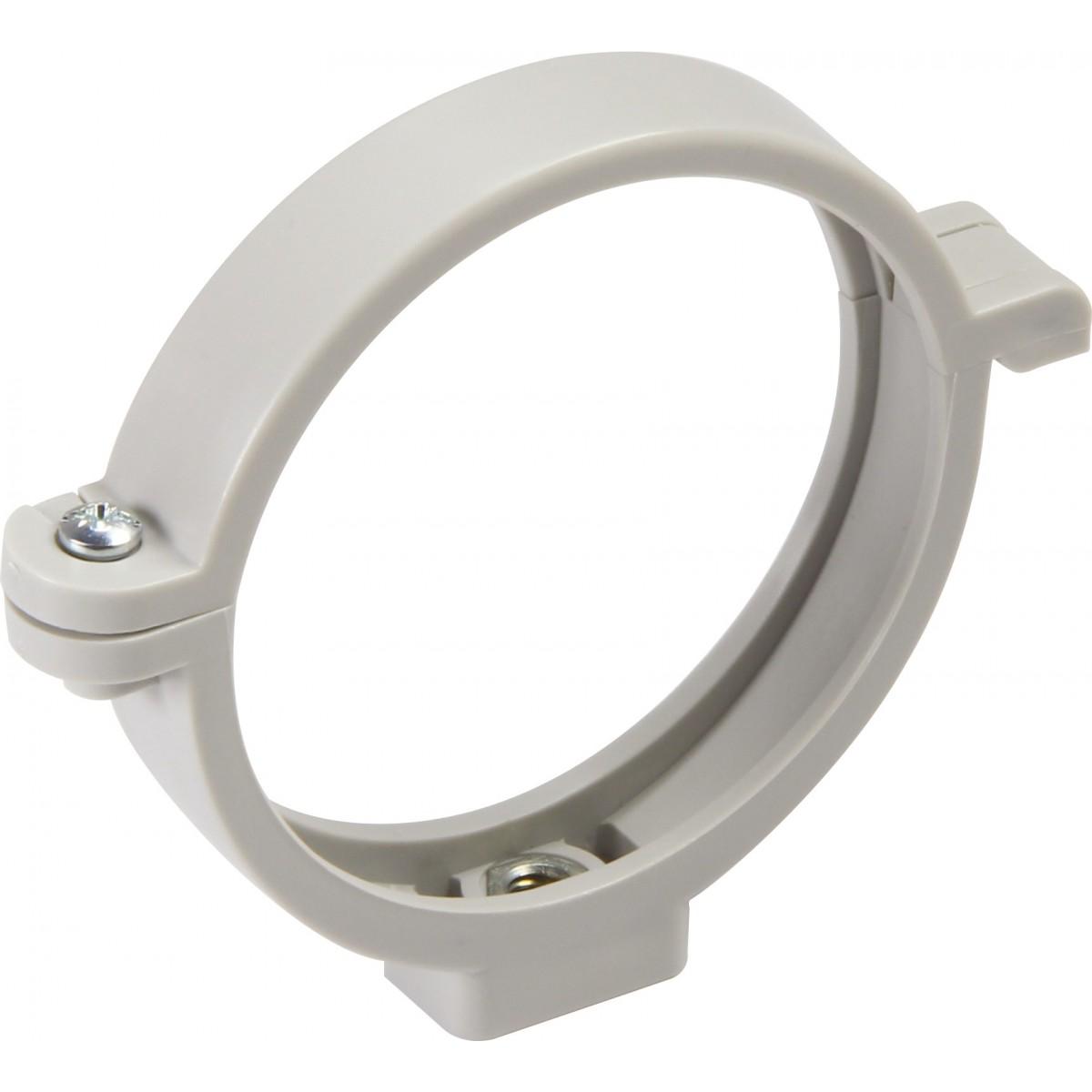 Collier à bride de descente Girpi - Diamètre 80 mm - Gris