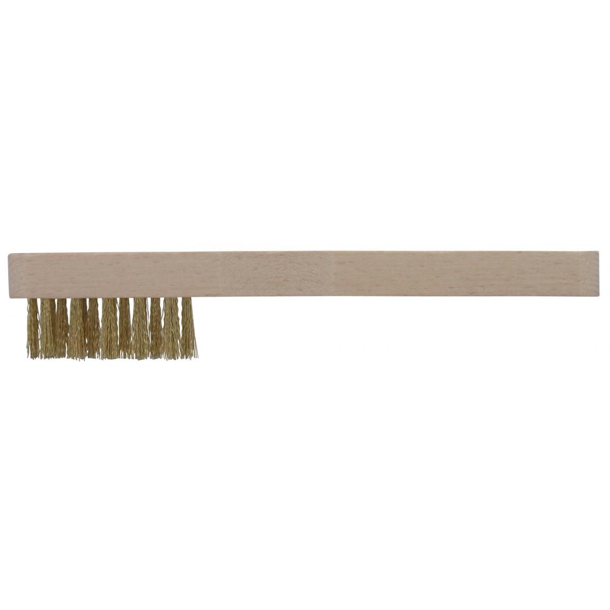 Brosse à bougie acier laitonné SCID - Longueur 21 mm
