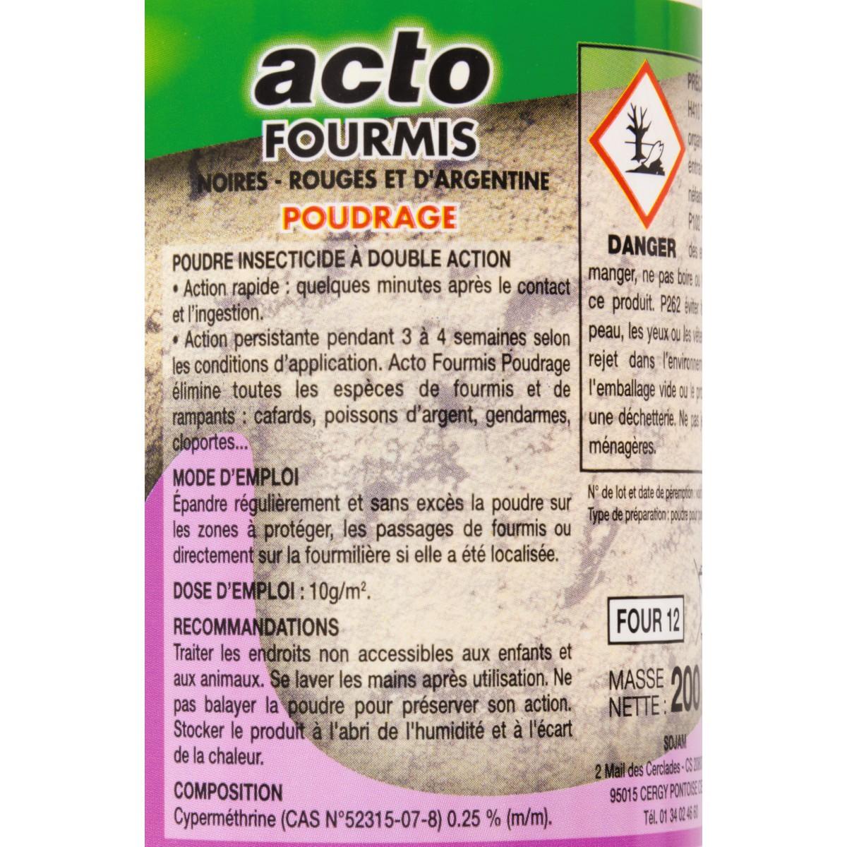 Fourmis poudre Acto - Boîte 200 g