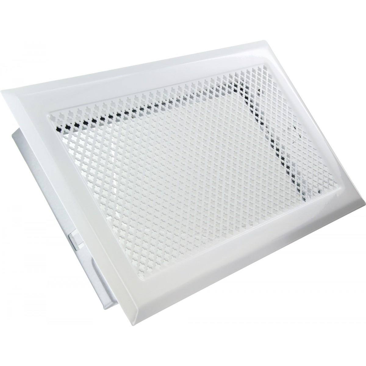 grille de chemin e avec pr cadre dmo blanc dimensions 345 x 195 mm de grille de chemin e. Black Bedroom Furniture Sets. Home Design Ideas