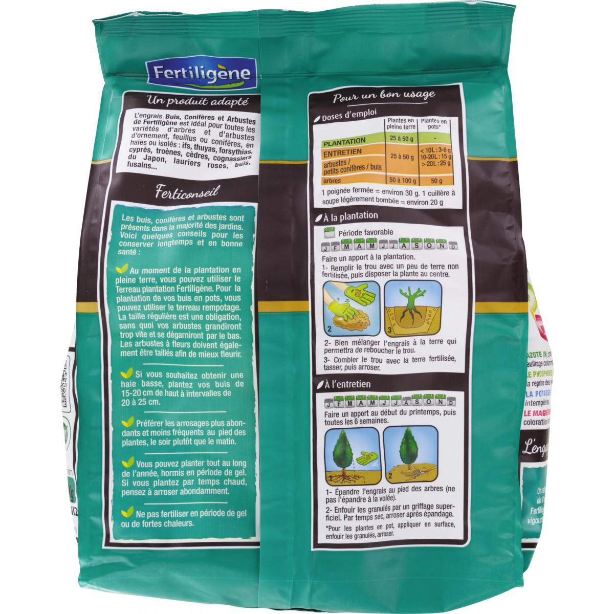 Engrais buis et conifères Fertiligène - Boîte 2 kg