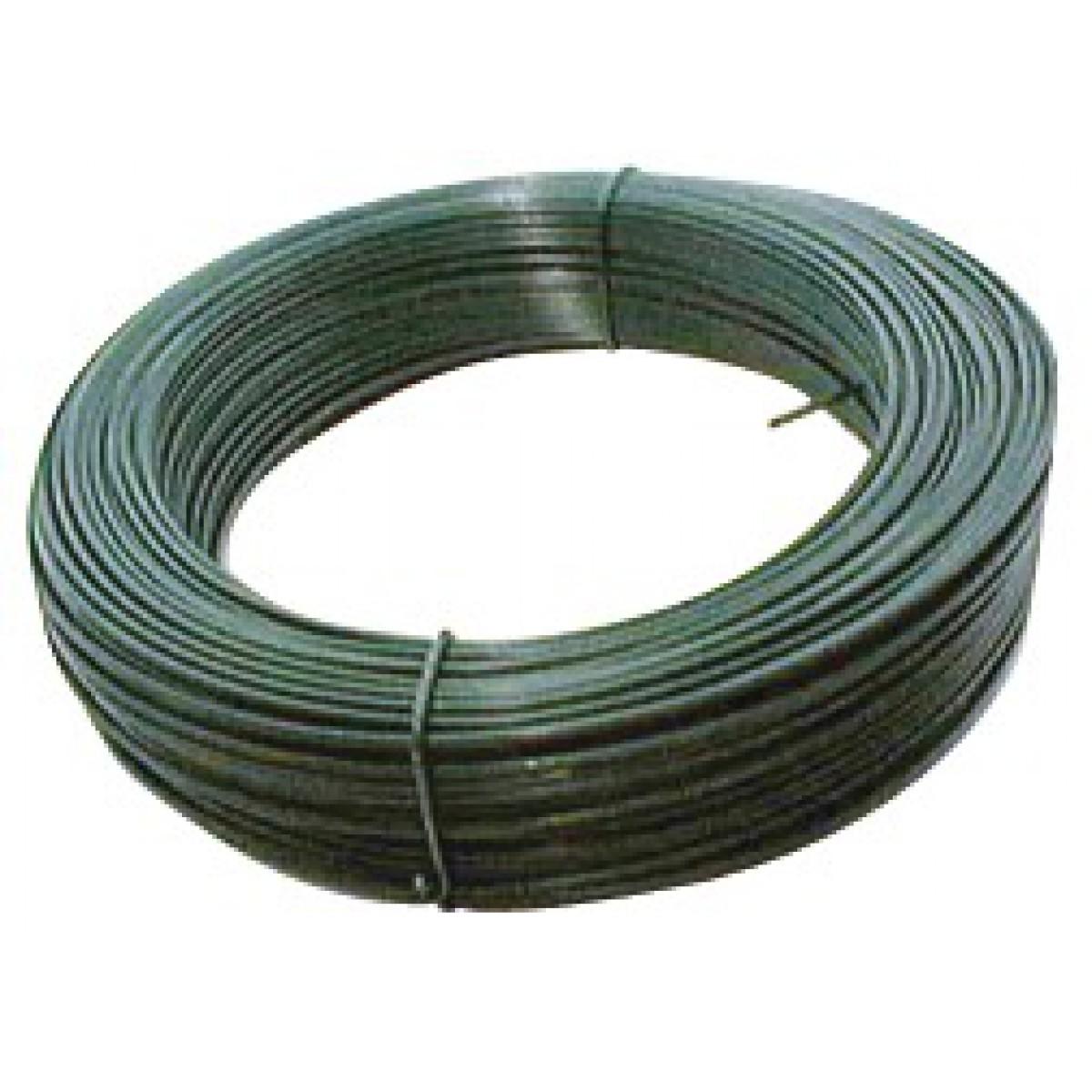 Fil de tension galvanisé plastifié Filiac - Longueur 25 m - Diamètre 2,4 mm - Vert