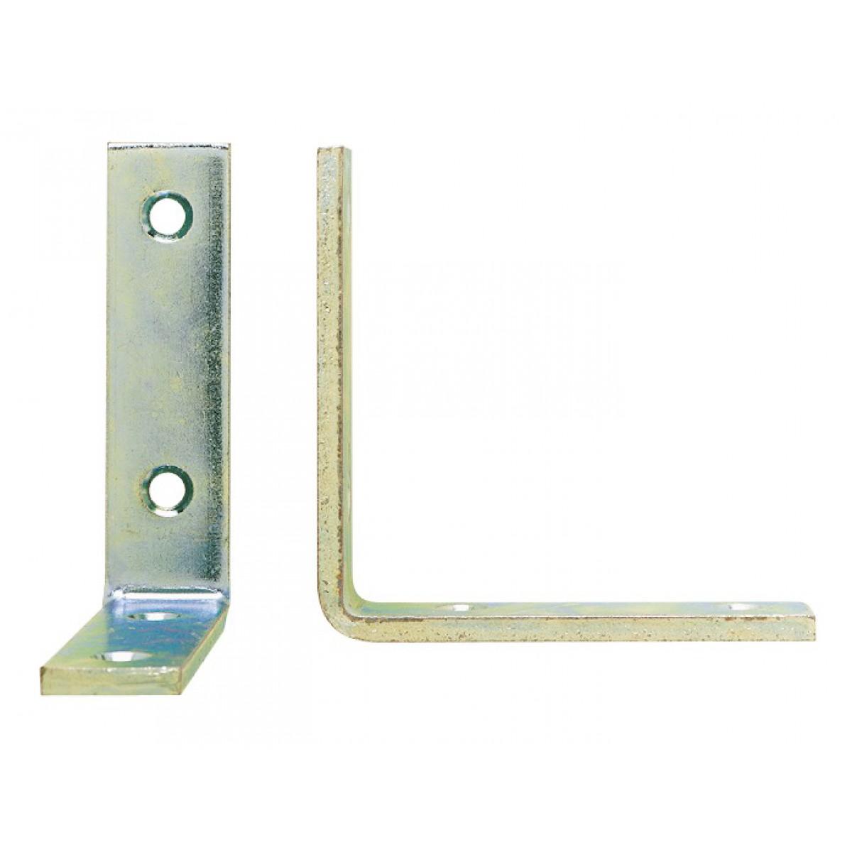 Equerre de renfort bouts carrés Jardinier Massard - Longueur Patte 100 mm - Largeur 18 mm