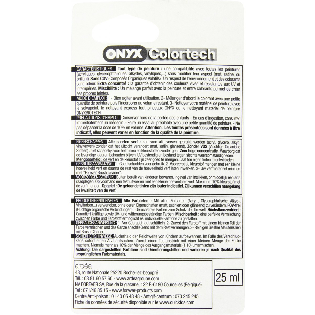 Colorant universel 25 ml Onyx - Ombre calcinée