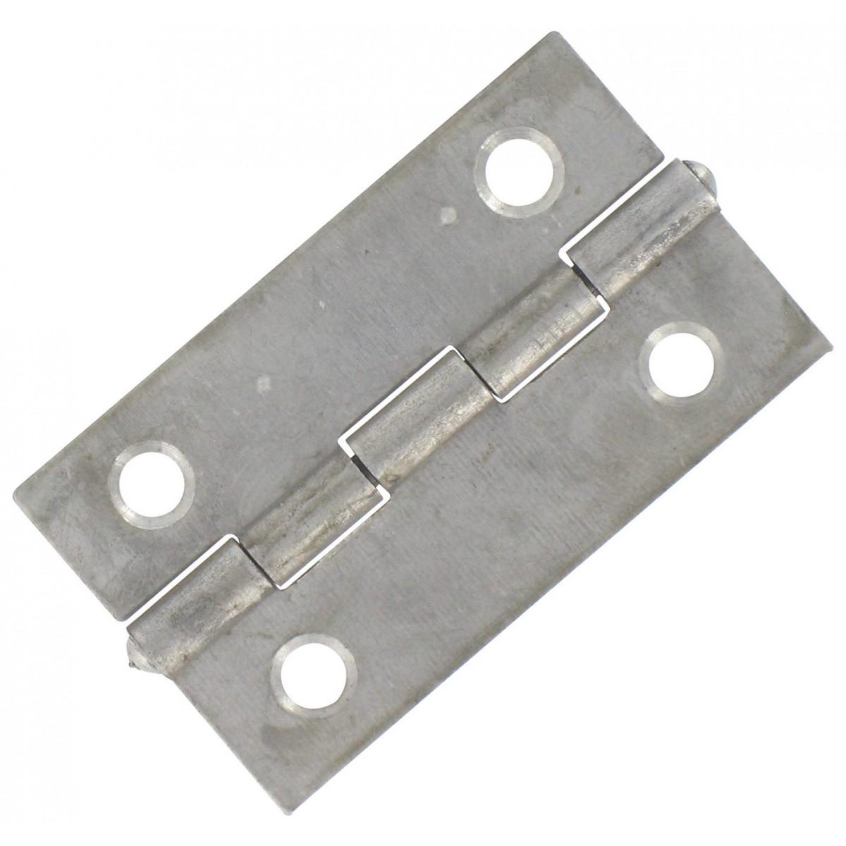 Charnière rectangulaire simple feuille Jardinier Massard - Acier décapé - Hauteur 30 mm - Largeur 19 mm