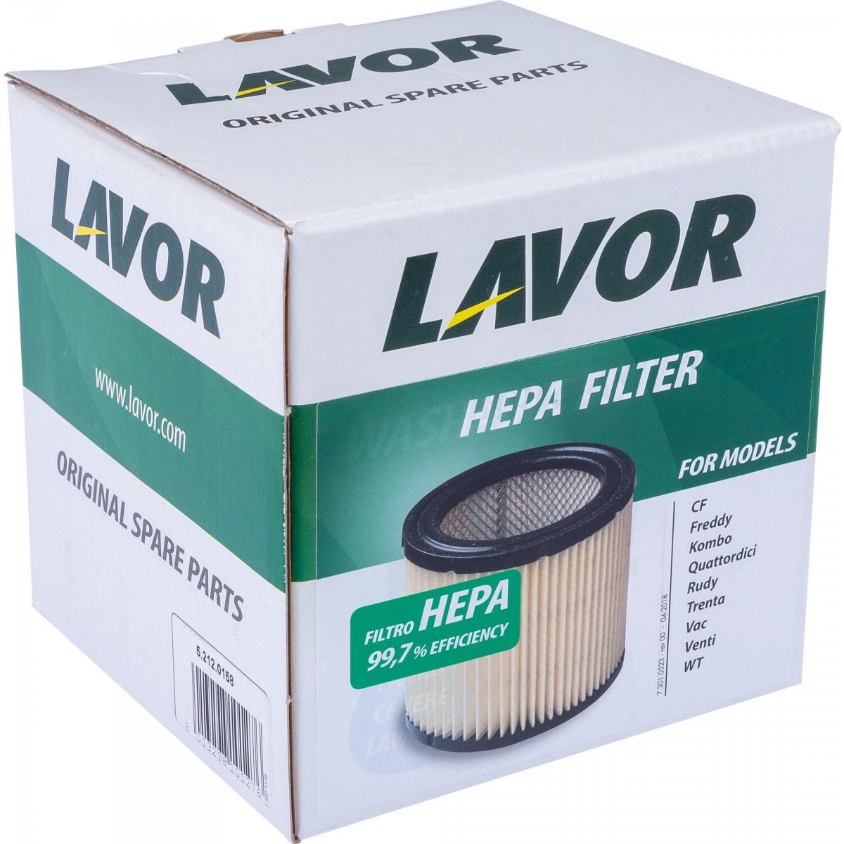 Filtre HEPA pour aspirateurs Lavor