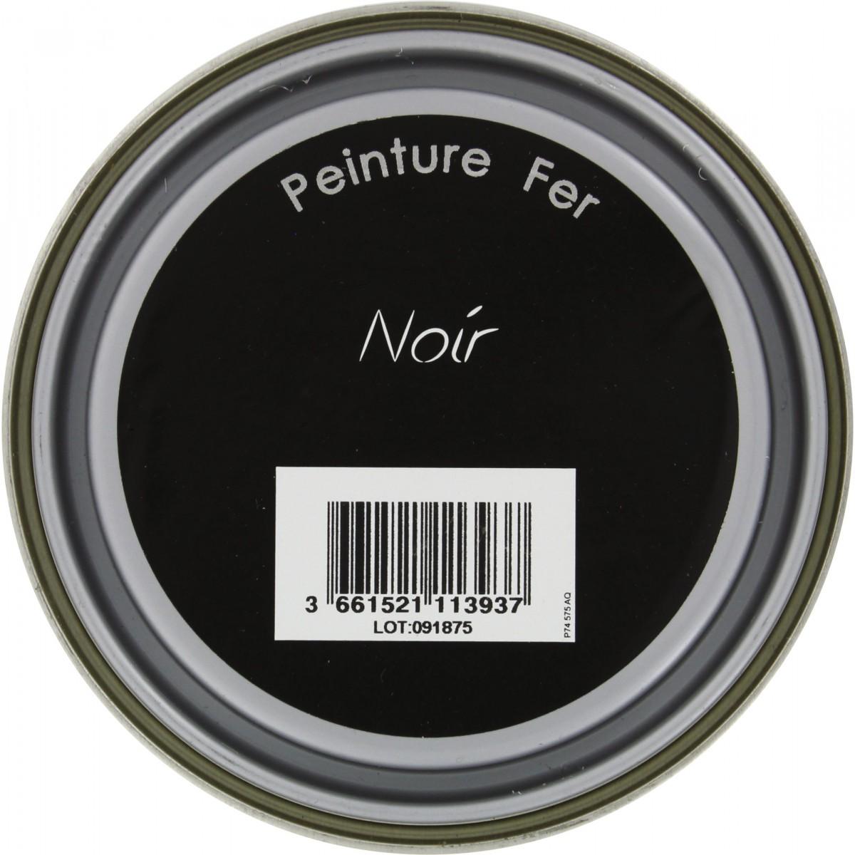 Peinture fer Addict - 0,5 l - Noir profond