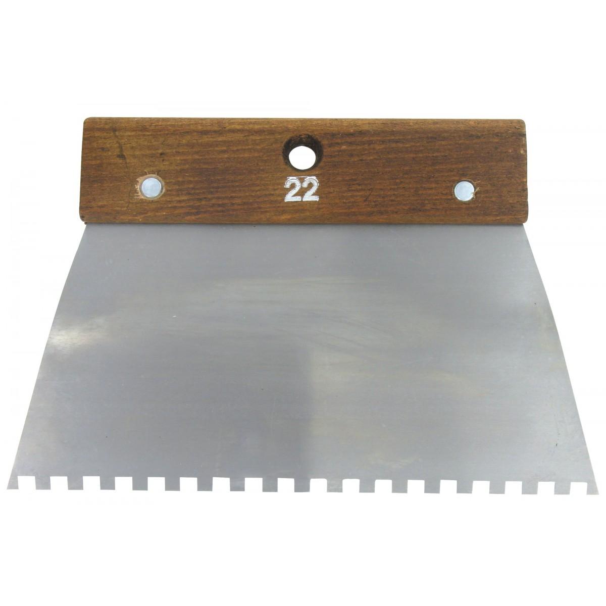Peigne acier cambre Outibat - Denture carrée 6 x 6 mm - Dimensions 220 mm