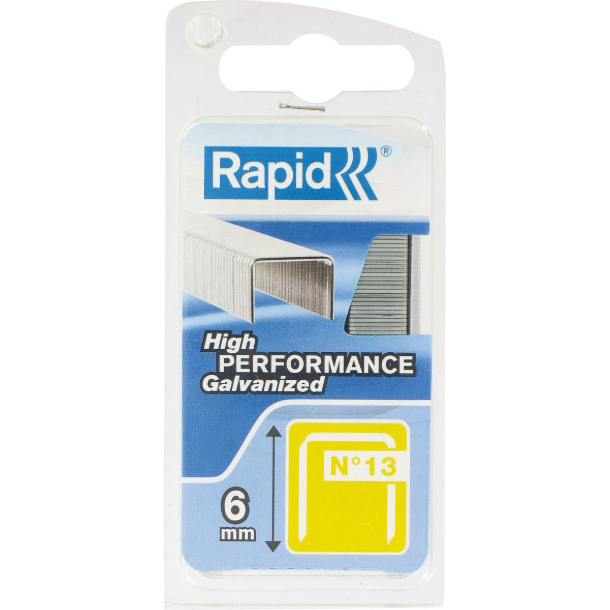 Agrafe n°13 Rapid Agraf - Hauteur 6 mm - 1600 agrafes