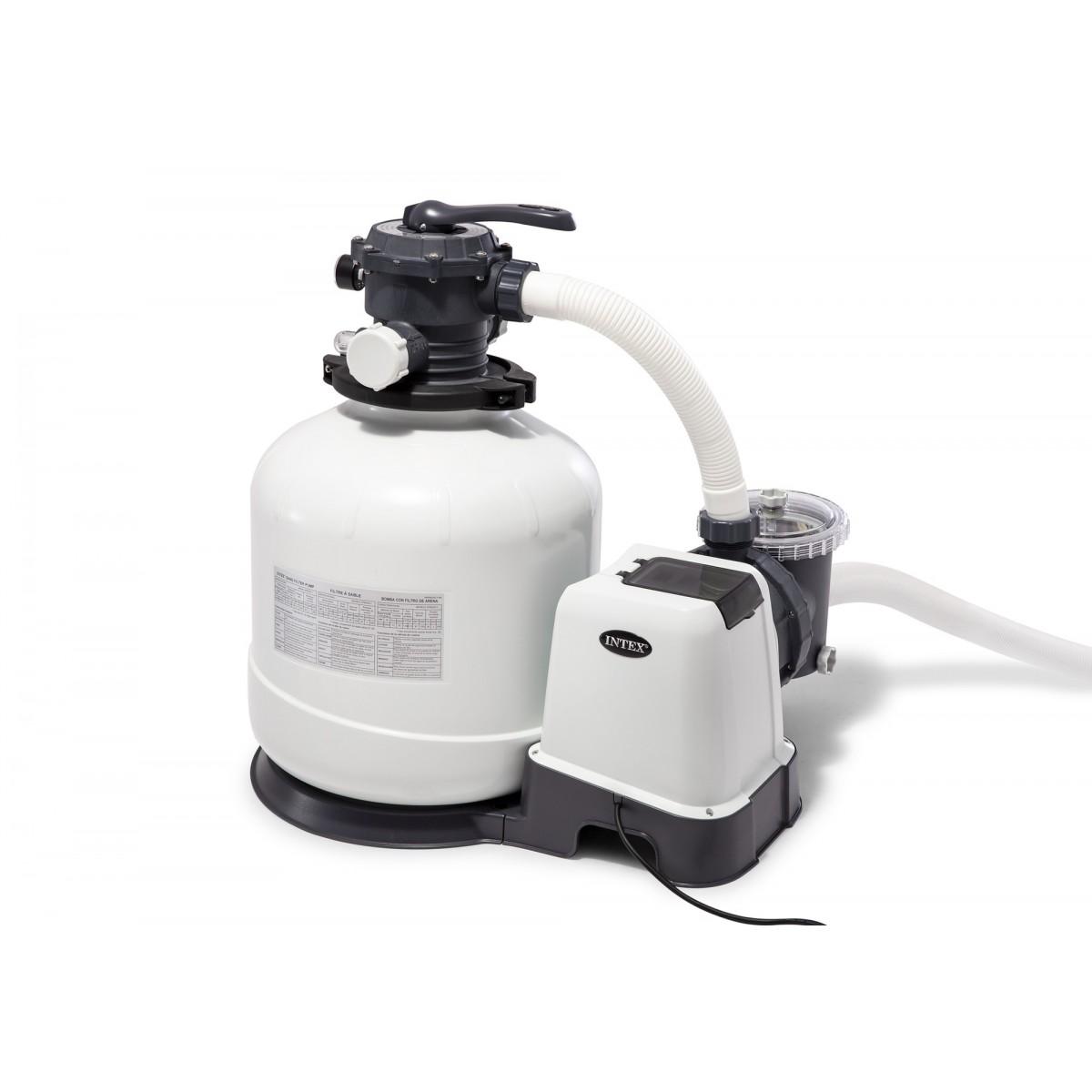 Filtre à sable Intex - Débit du système 10 m3/h - Puissance 0.75 cv