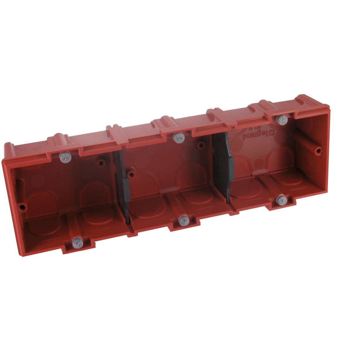 Boîte maçonnerie Legrand - 3 postes - Profondeur 40 mm
