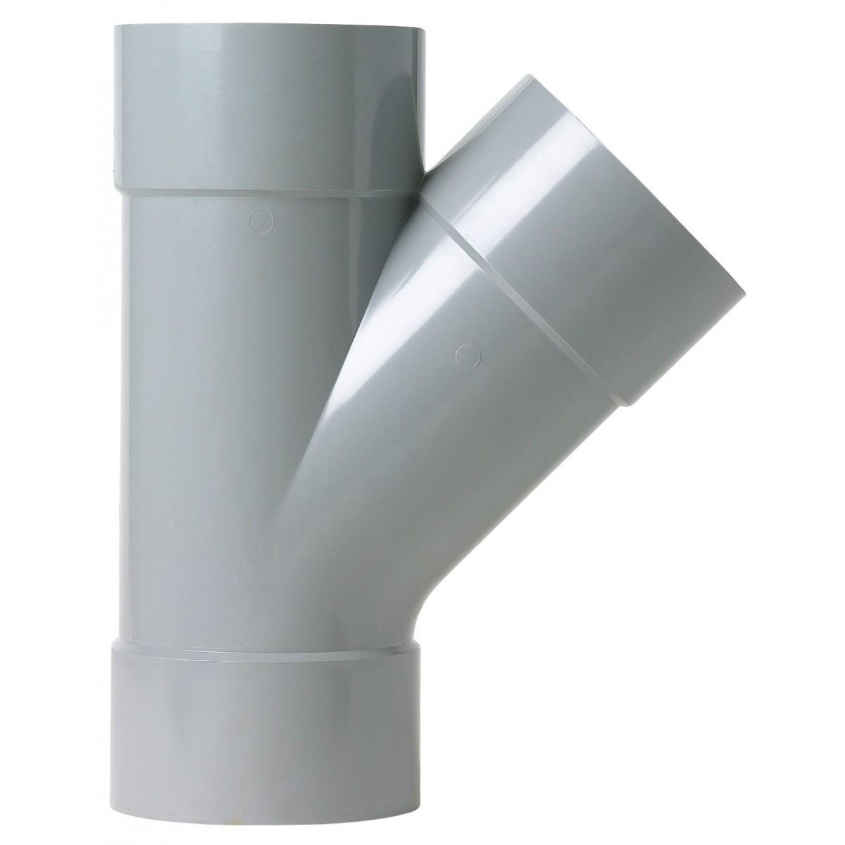 Culotte à 45° Femelle / Femelle Girpi - Diamètre 80 mm