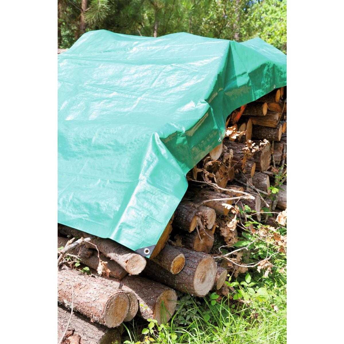 Bâche de stère bois Cap Vert - Dimensions 2 x 8 m