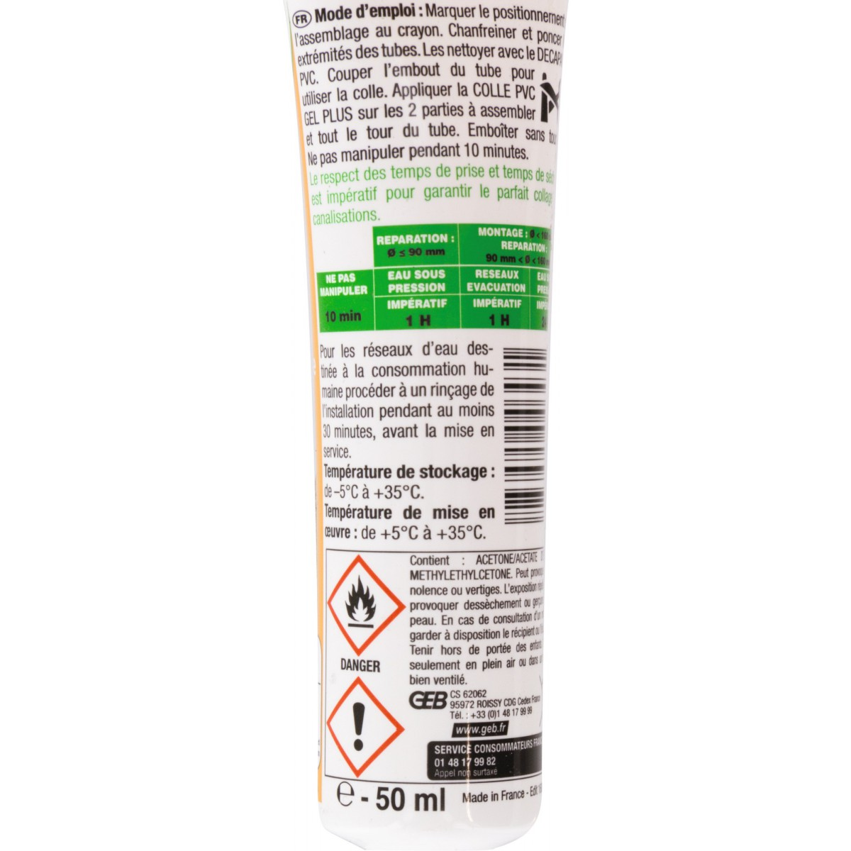 Colle gel plus PVC Geb - Tube 50 ml