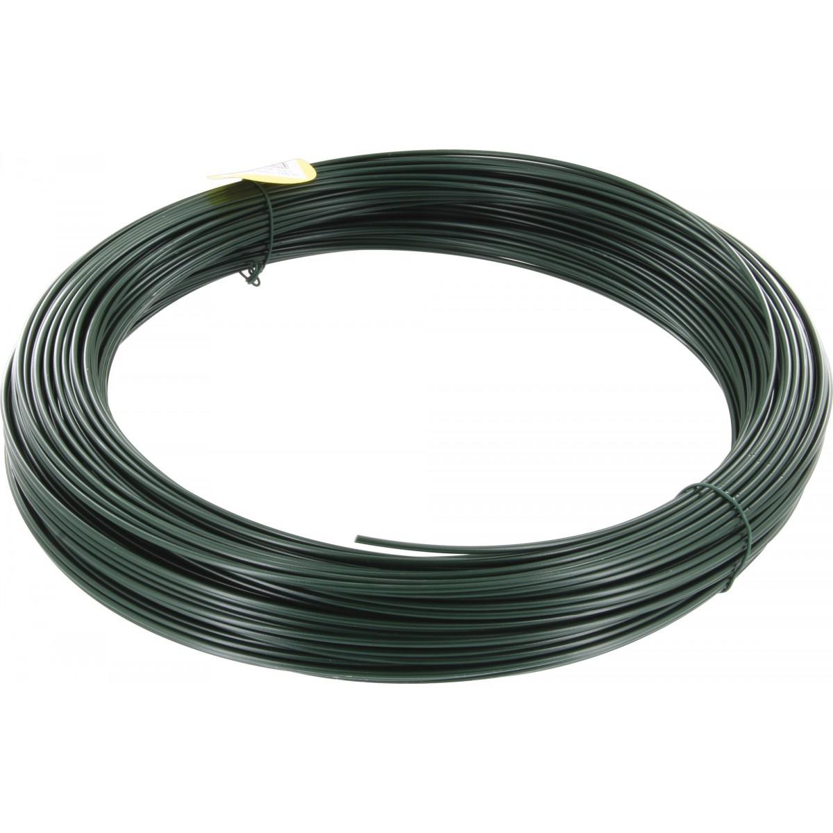 Fil de tension galvanisé plastifié Filiac - Longueur 100 m - Diamètre 2,75 mm - Vert