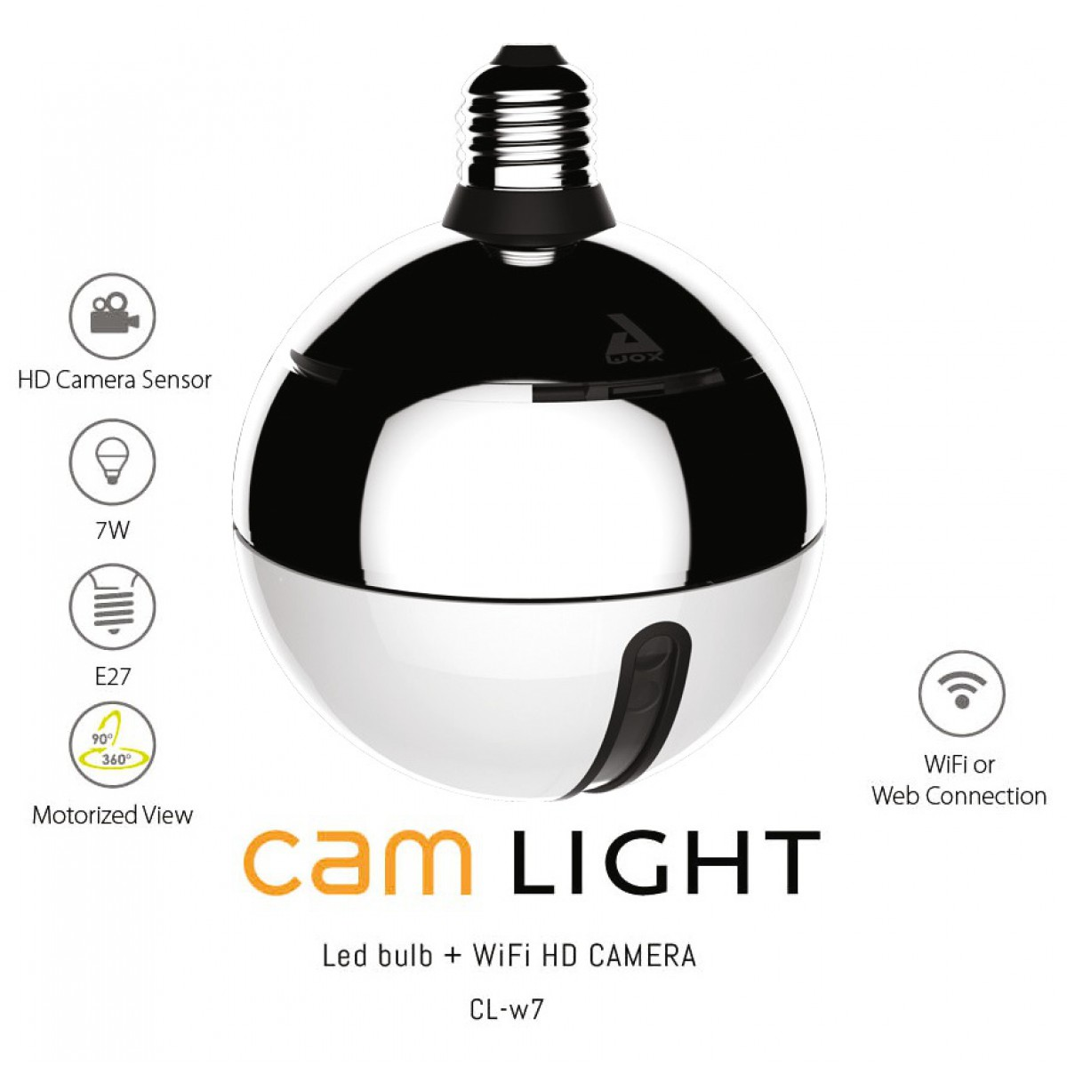 Cam light Awox - Caméra HD - 7 W - E27