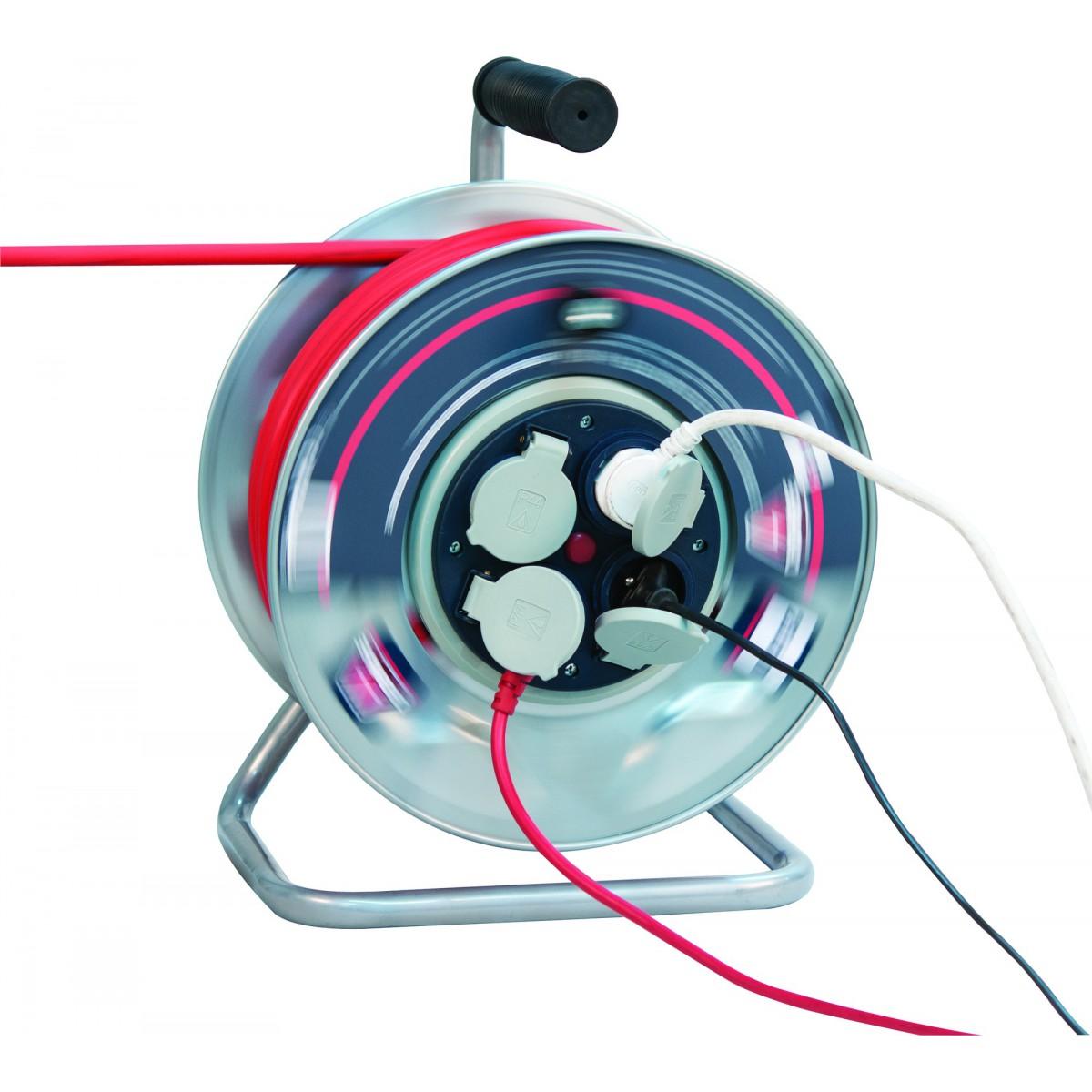Enrouleur professionnel moyeu fixe Dhome - HO7 RN-F 3G 2,5 mm² - Longueur 40 m