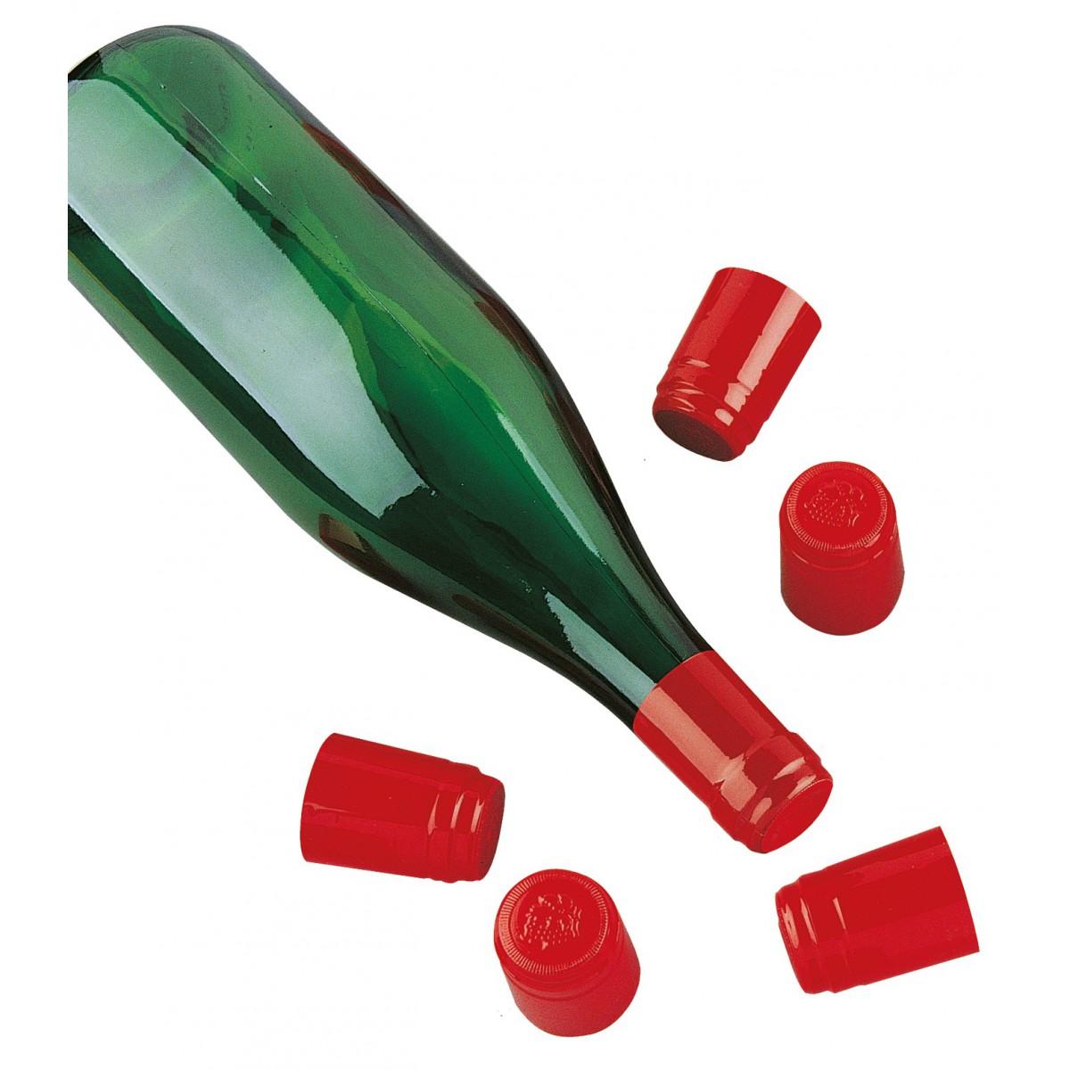 Capsule PVC Duhallé - Rouge - Vendu par 50