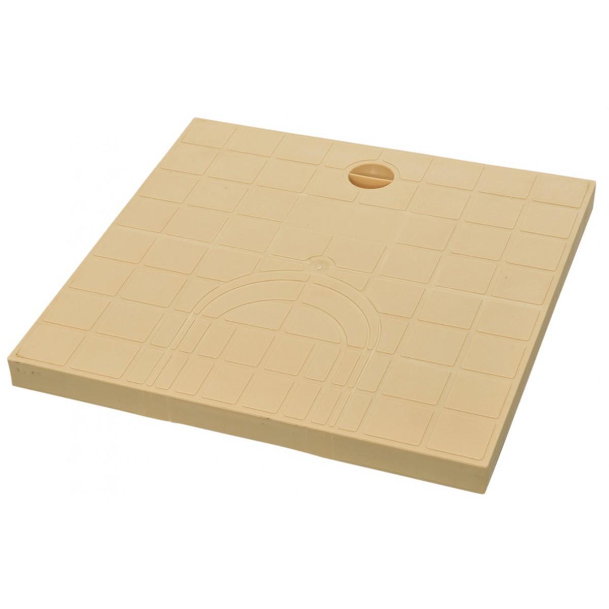 Tampon de regard prédécoupé Girpi - Sable - Dimension 30 x 30 cm