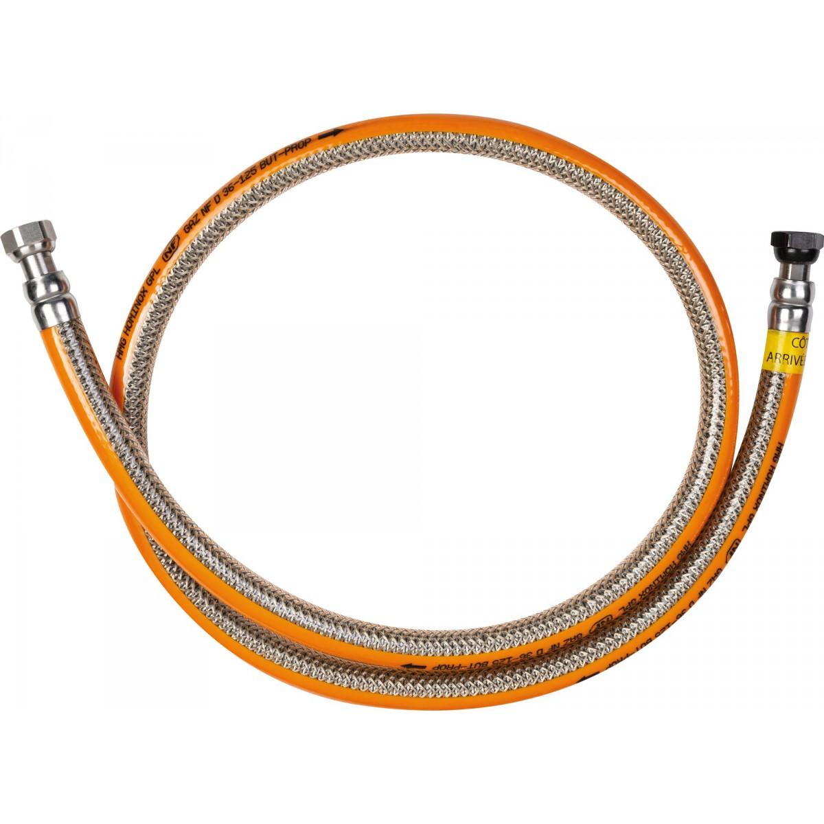 Flexible gaz butane / propane Eurogaz - Longueur 1,25 m