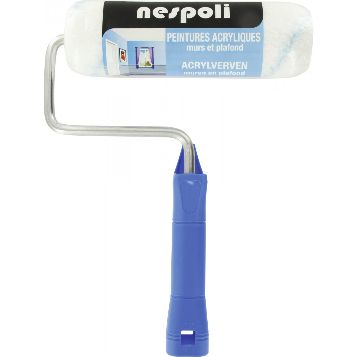 Rouleau manche polypropylène Nespoli - Système ABS - Longueur 180 mm - Diamètre 40 mm