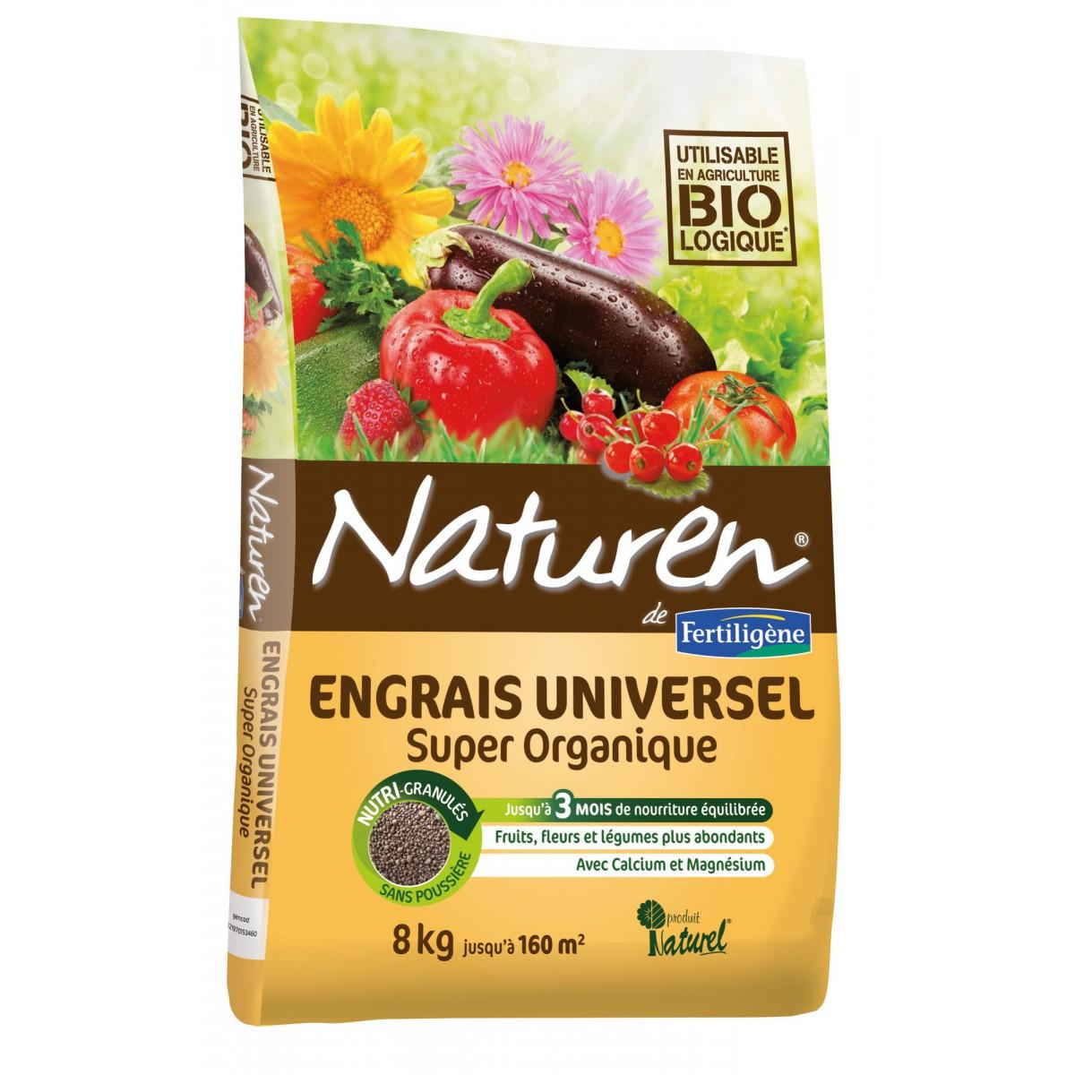 Engrais complet super organique Naturen - Sac 8 kg