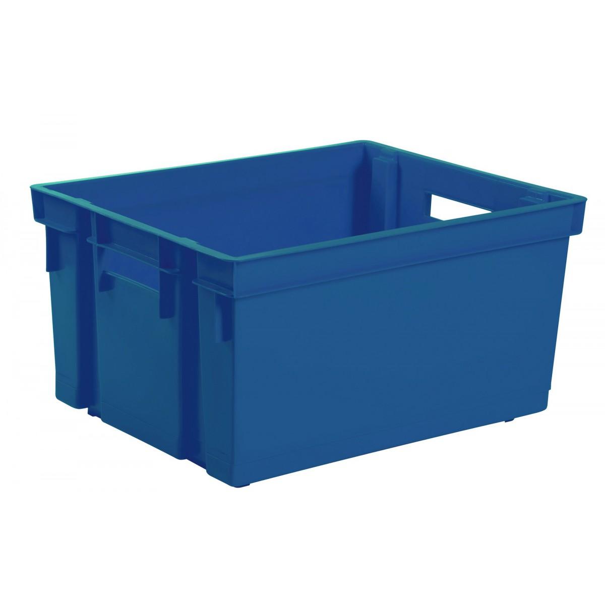 Bac de rangement Eda - Sans couvercle - Bleu minéral - 20 l