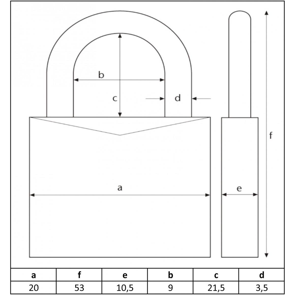 Cadenas laiton à combinaison interchangeable série 165 Abus - Anse 21,5 mm