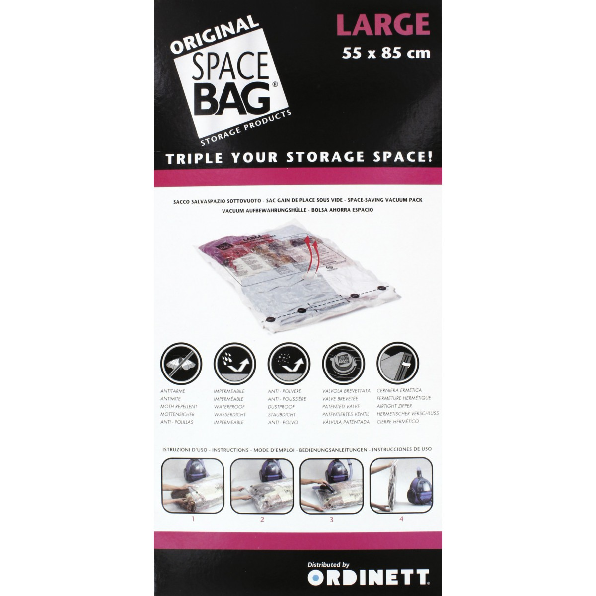 Housse gain de place Space Bag - Sac bag large - Dimensions 55 x 85 cm