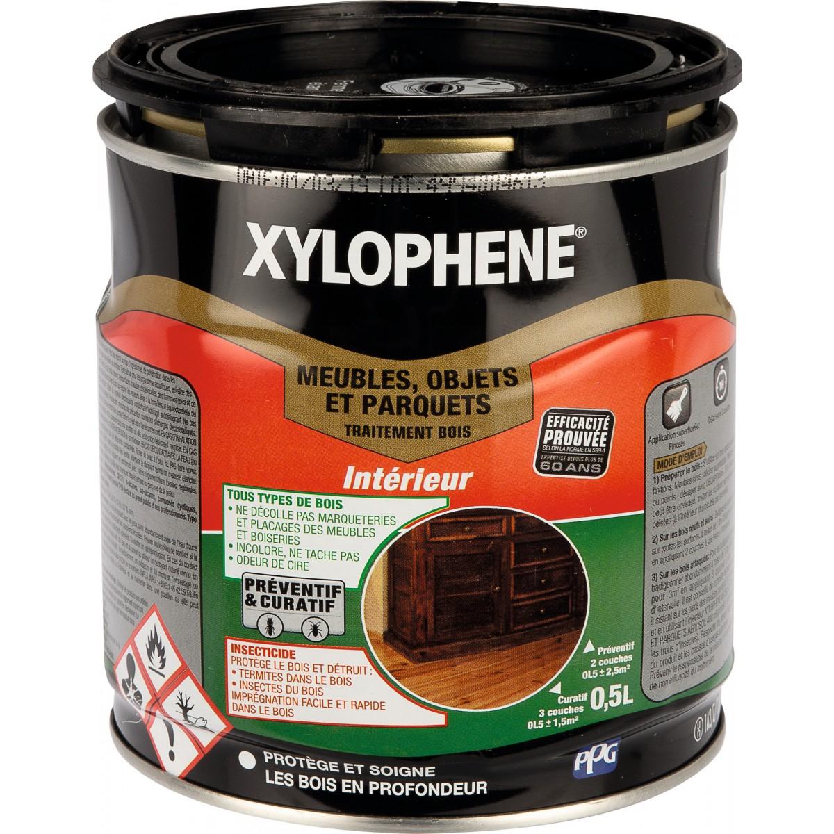 Xyloph ne traitement meubles et objets anciens incolore bidon 0 5 l - Xylophene meuble ...