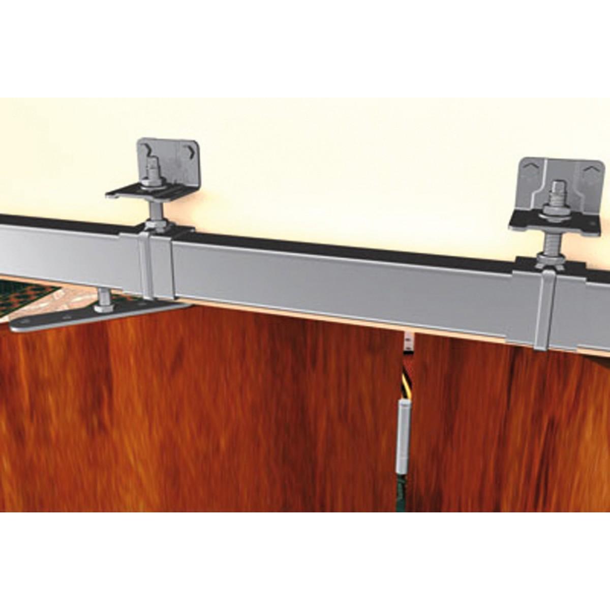 Ferrure de porte à déplacement droit pour porte de 150 kg Mantion Flot - Monture à galet fixation sur chant - Delrin 255D - Vendu par 2