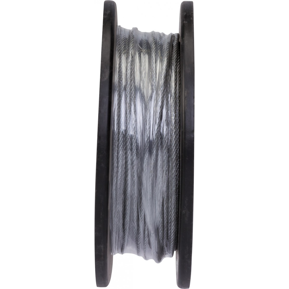 Câble acier gainé PVC Chapuis - Bobine de 50 m - Diamètre Câble 3 mm - Extérieur 4 mm