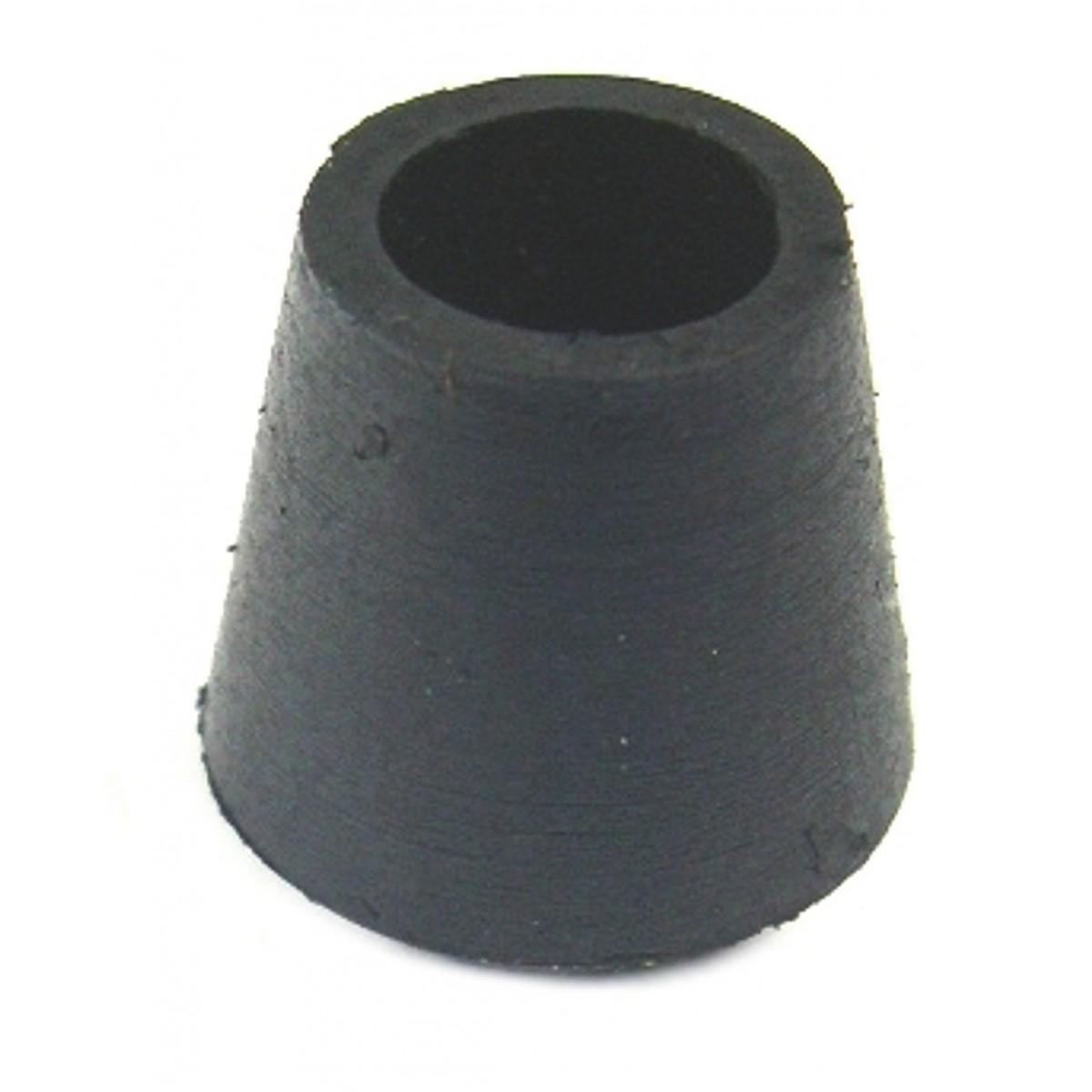 Embout enveloppant caoutchouc noir Shepherd - Diamètre 16 mm - Vendu par 20