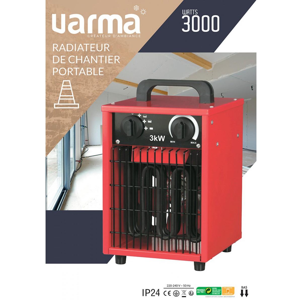 Radiateur de chantier portable Cube Varma - 3000 W
