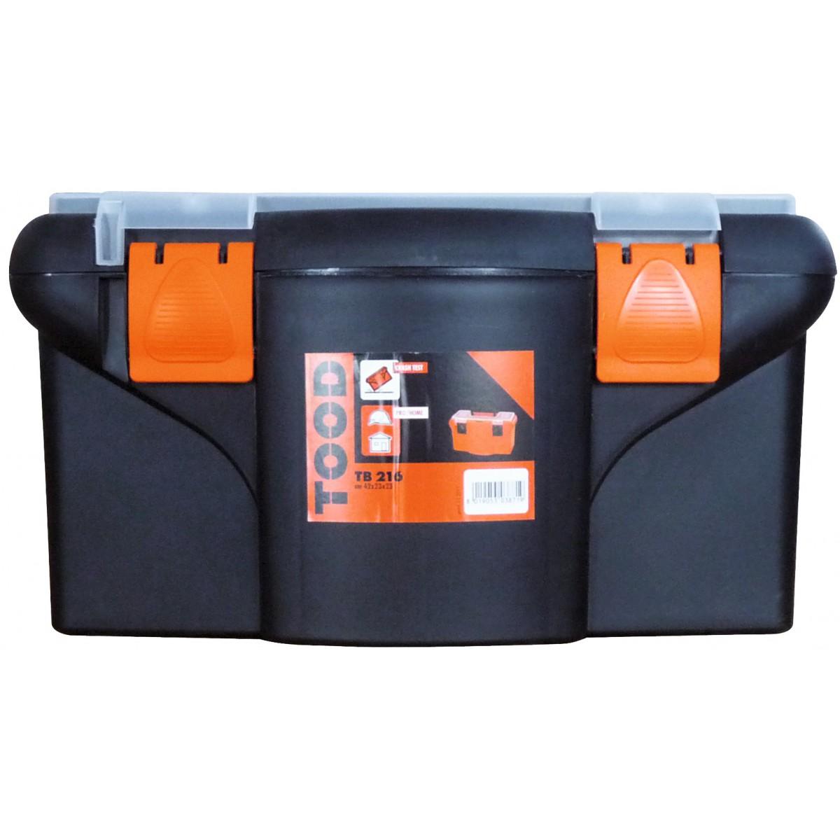 Boîte à outils plastique Tood - Longueur 450 mm