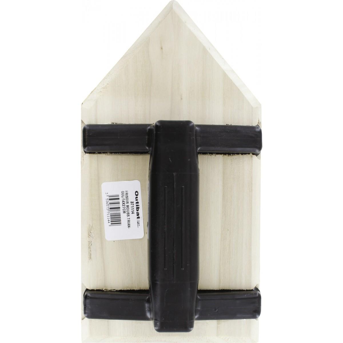 Frisoir mousse triangulaire Outibat - Dimensions 14 x 27 cm