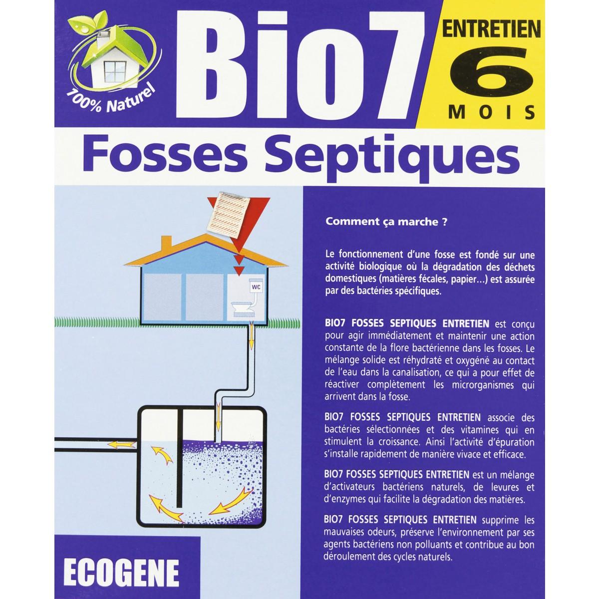 Bio 7 entretien fosses ecog ne 480 g 6 sachets de entretien fosse septique - Entretien fosse septique ...