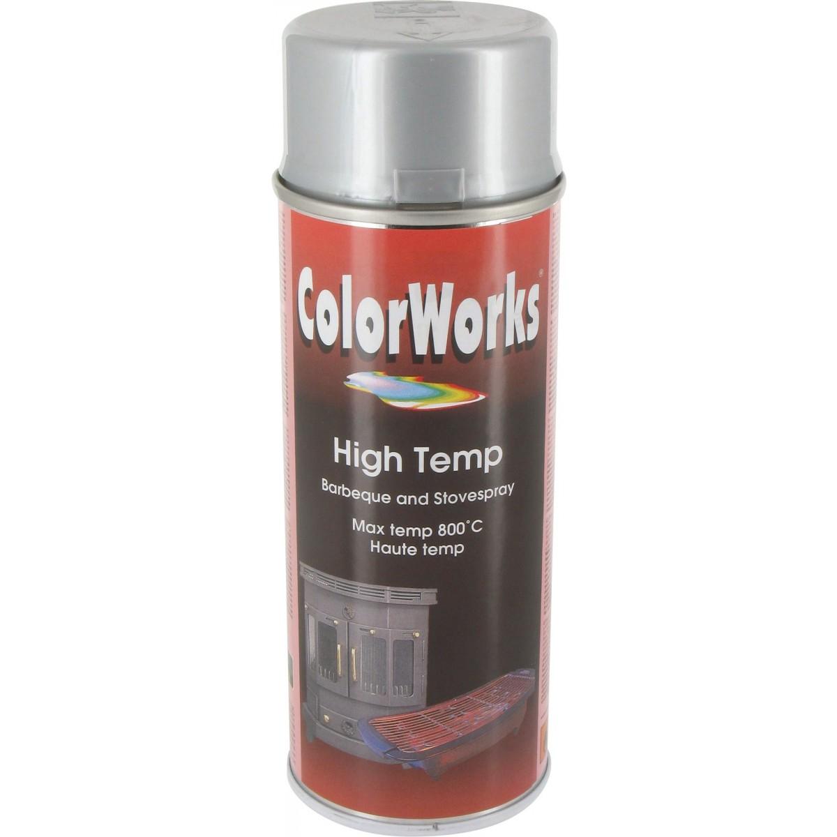 Peinture haute température Colorworks - Argent