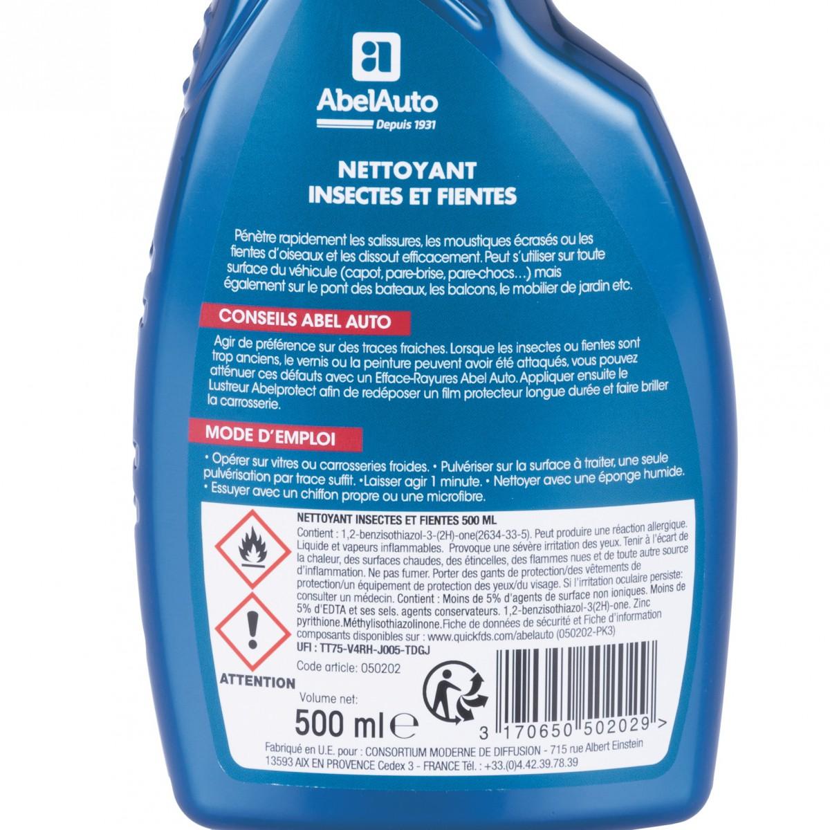 Nettoyant-demoustiqueur vitres Abel Auto - Pulvérisateur 500 ml
