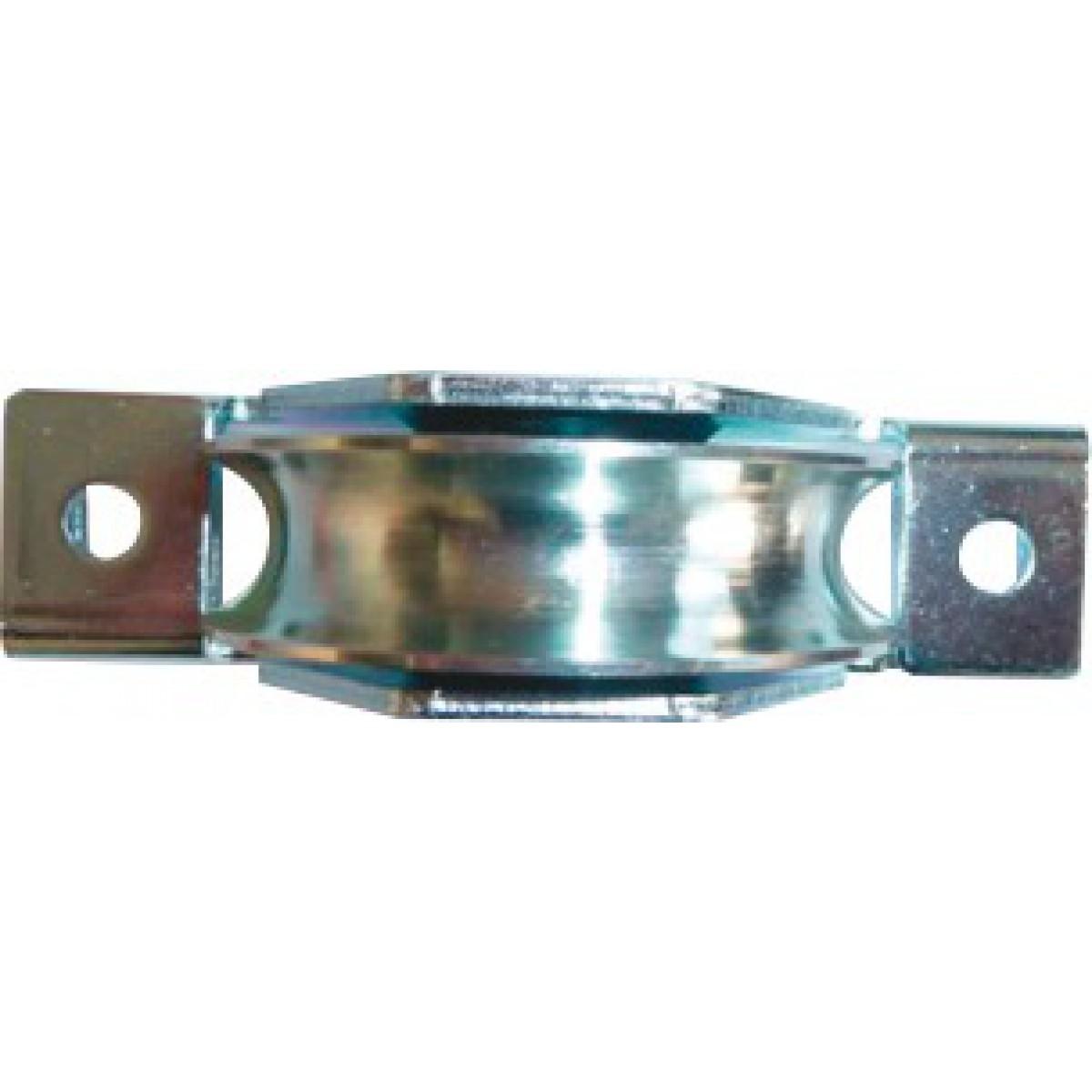 Roue avec support intérieur Guitel point M - Gorge ronde - Diamètre 80 mm