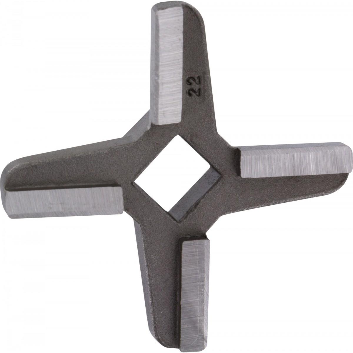 Couteau acier 4 pales Reber - Accessoire hachoir à viande n°22