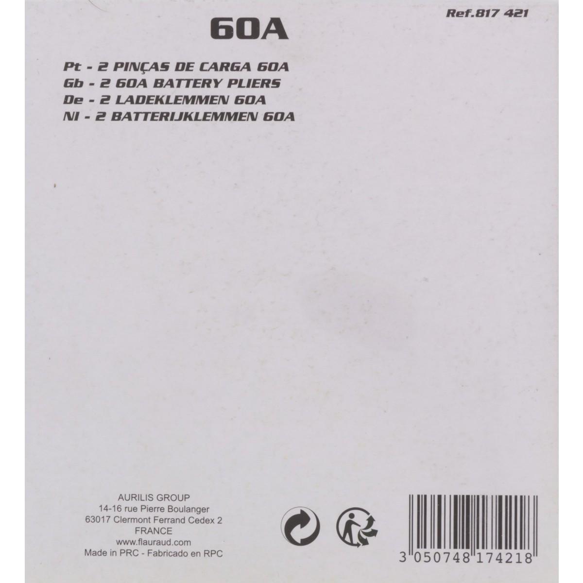 Pince charge Altium - Intensité 60 A - Vendu par 2
