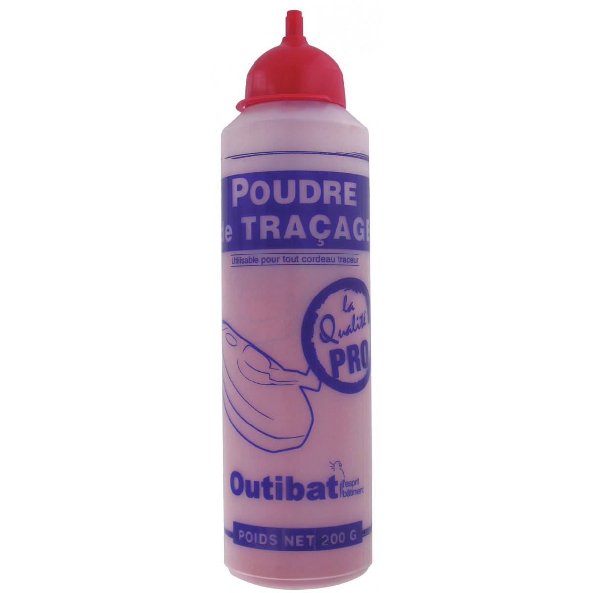 Biberon de poudre rouge Outibat - 200 g