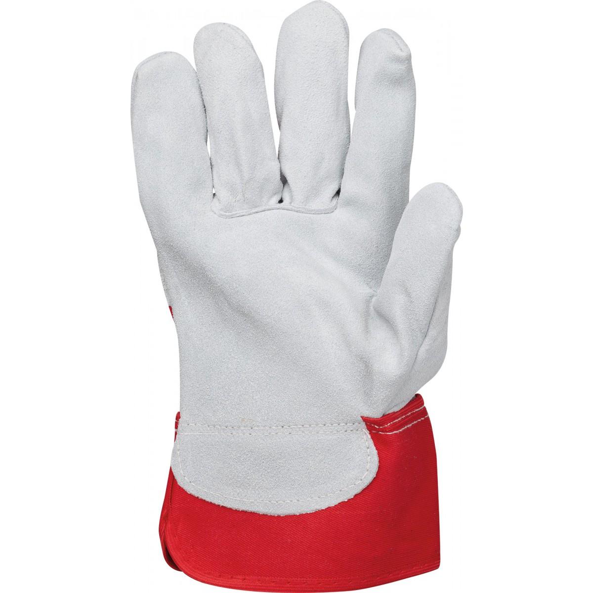 Gants docker de protection cuir croûte de vachette Outibat - Taille 10 - Vendu par 10