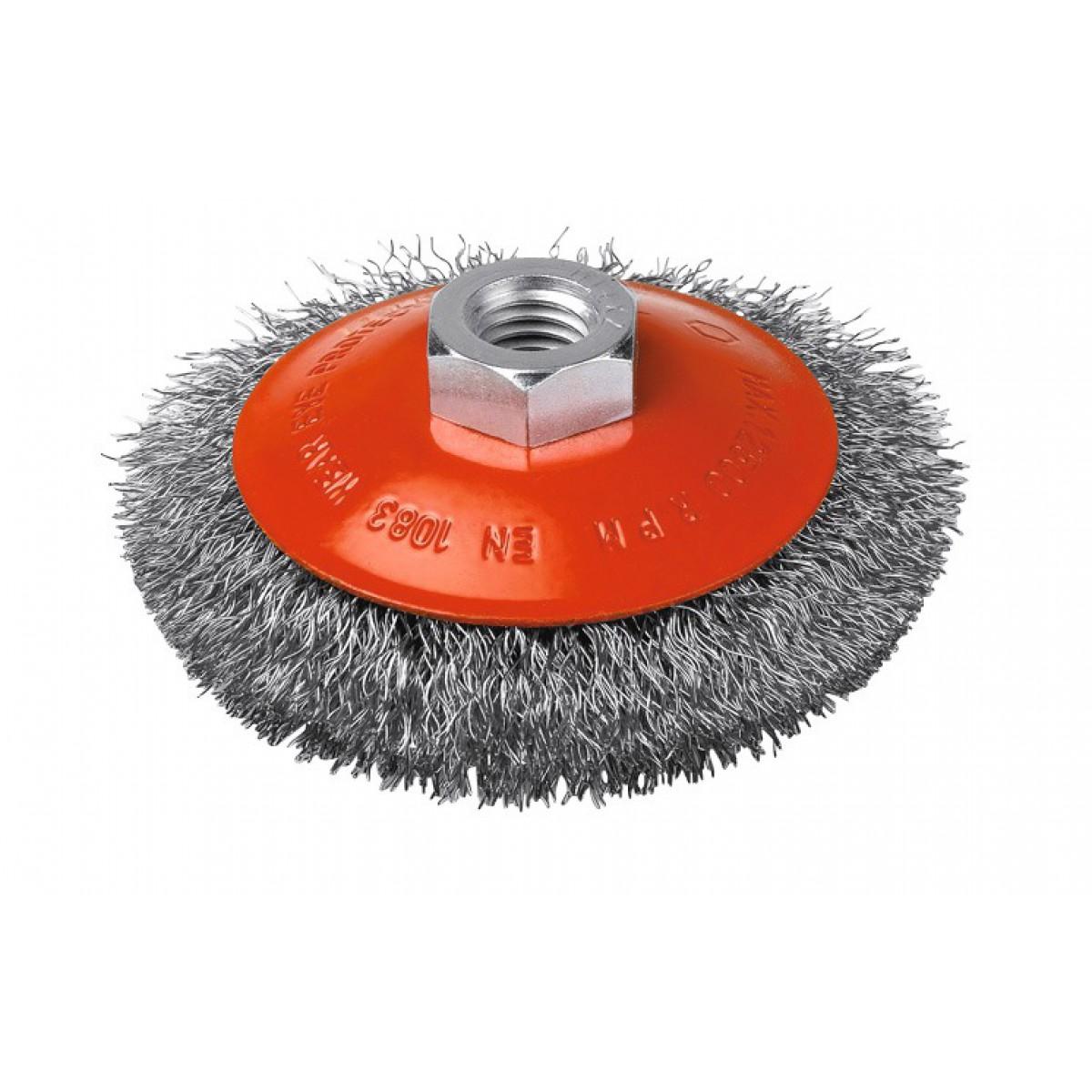 Brosse cuvette acier ondulé SCID - Diamètre 120 mm