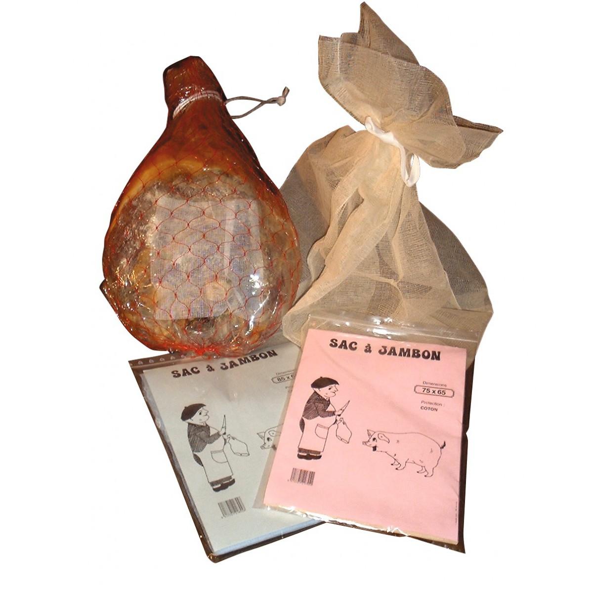 Sac à jambon - Ecru - Dimensions intérieure 65 x 85 cm