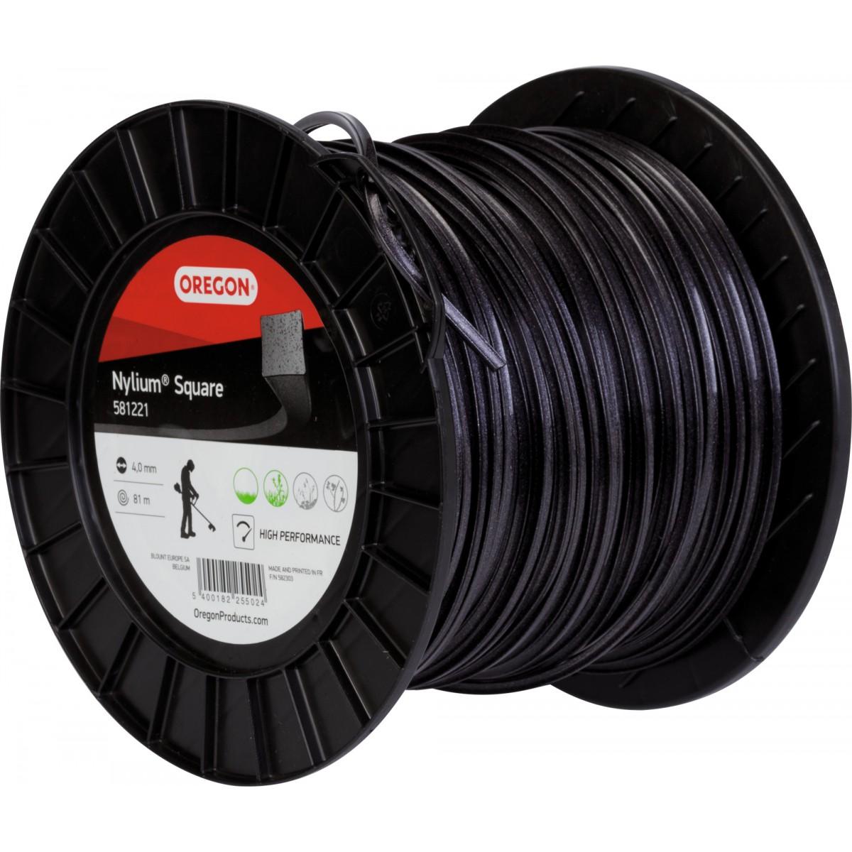 Fil carré pour débroussaillage nylon Oregon - Longueur 81 m - Diamètre 4 mm