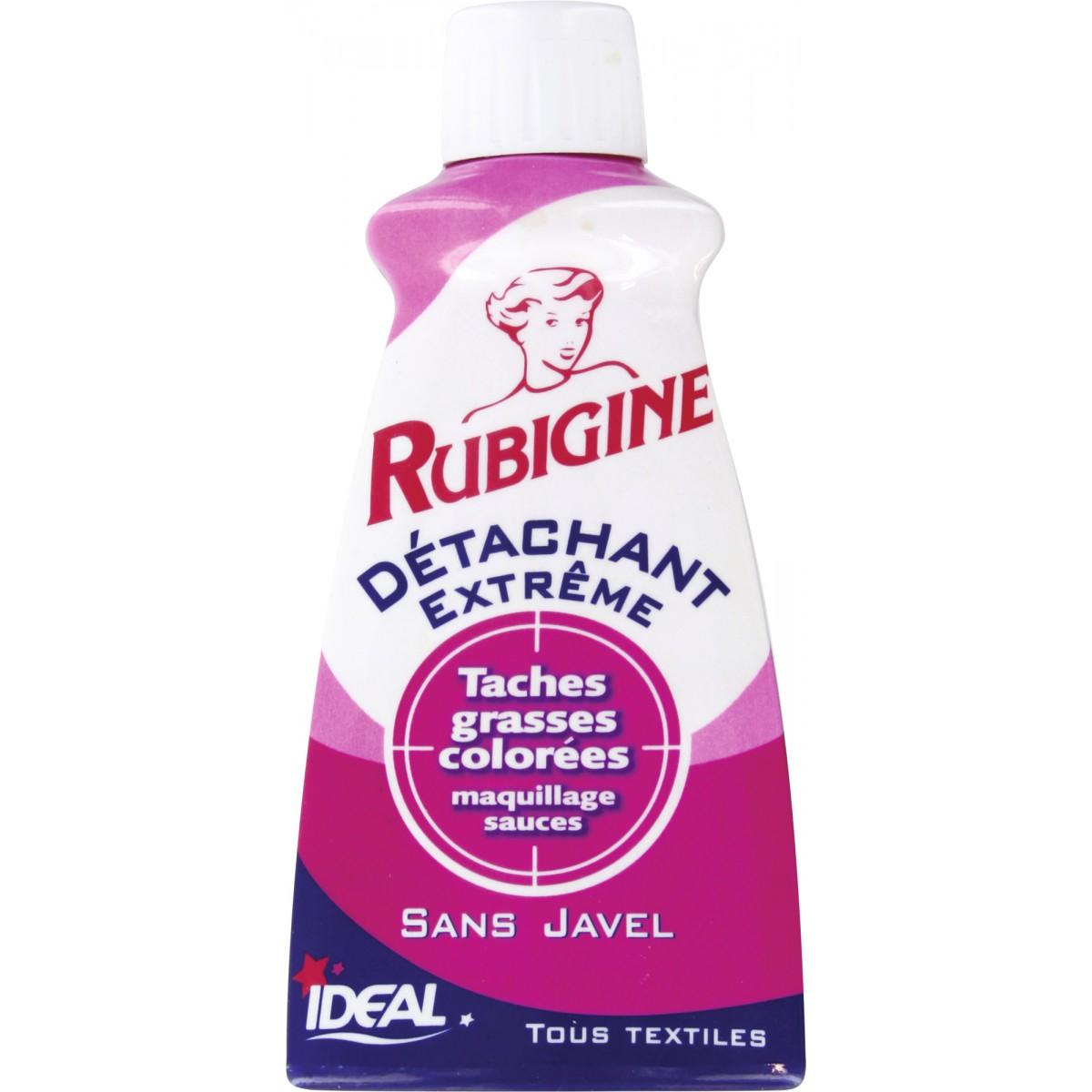 Détachant tâches organiques Rubigine - Flacon 100 ml - Tâches grasses colorées
